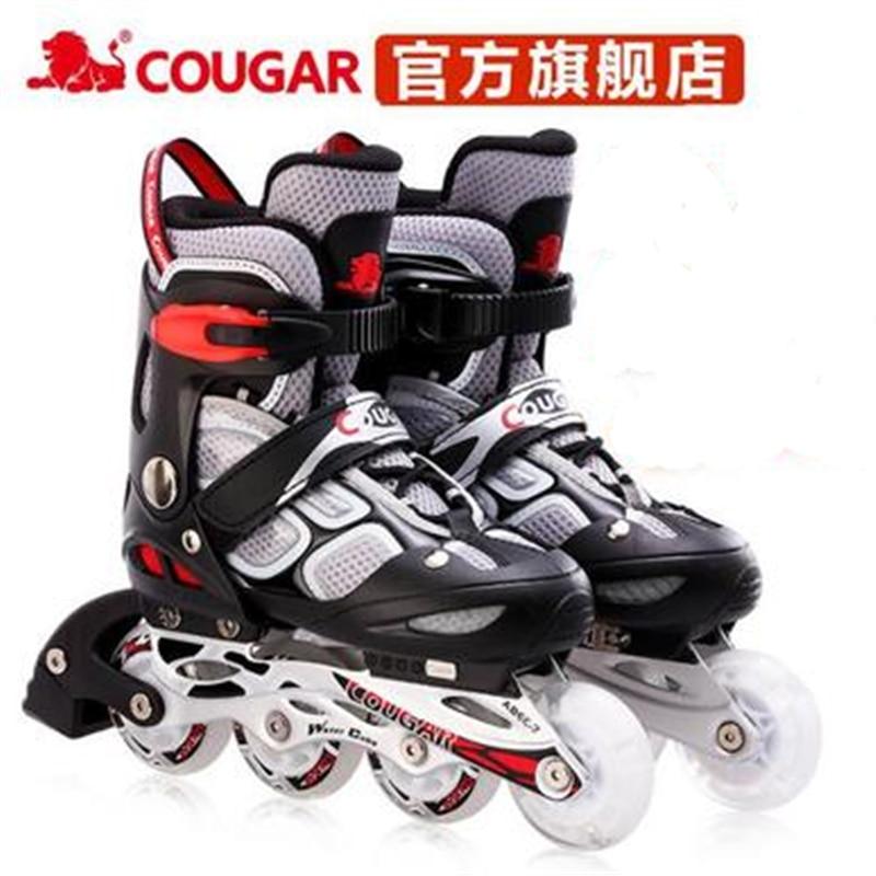 High Quality Cougar Skates Children Adjustable Flash Inline Skates Roller Skates Skates Men And Women