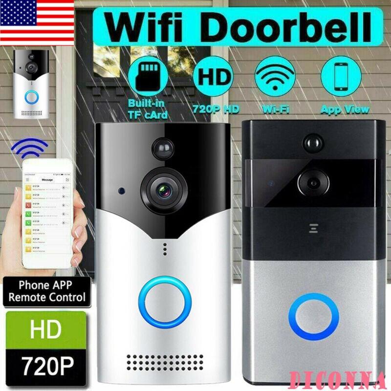 Wireless Smart WiFi DoorBell IR Video Visual Camera Intercom Home Security Phone