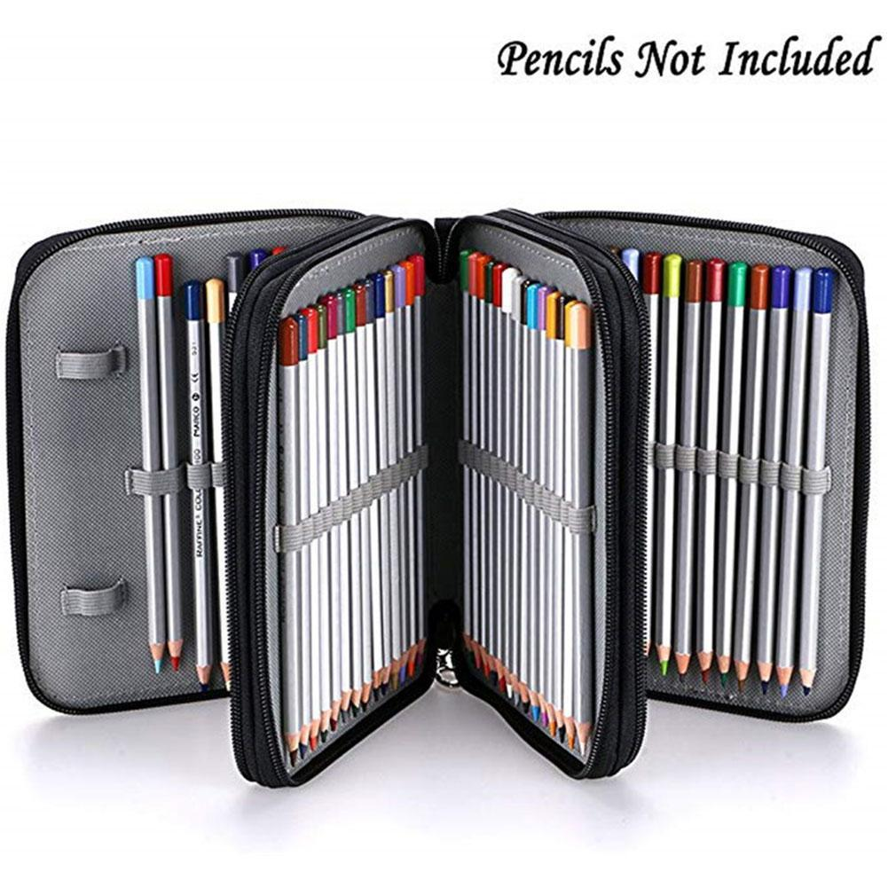78 Holes Art Painting Pencil Case Creative Large Capacity Stationery Bag Multifunction Drawing Supply Pen School Kids Pouch S3A5