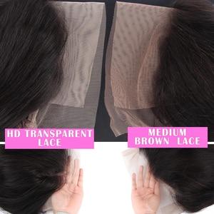 Image 4 - 브라질 변태 곱슬 HD 투명 레이스 정면 가발 여성 13x4 ISEE 머리 인간의 머리가 발 180% 밀도 레이스 프런트가 발