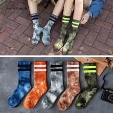Носки хлопковые цветные для мужчин и женщин Модные Цветные бабочки