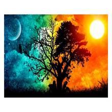 Дерево цифровая картина маслом по номерам Холст Настенная diy