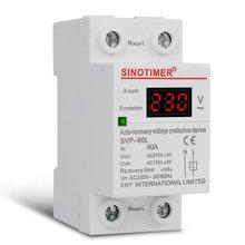SVP-60L 230V 40A автоматическое восстановление под Напряжение более Напряжение протектор релейный выключатель защитное устройство светодиодный Дисплей