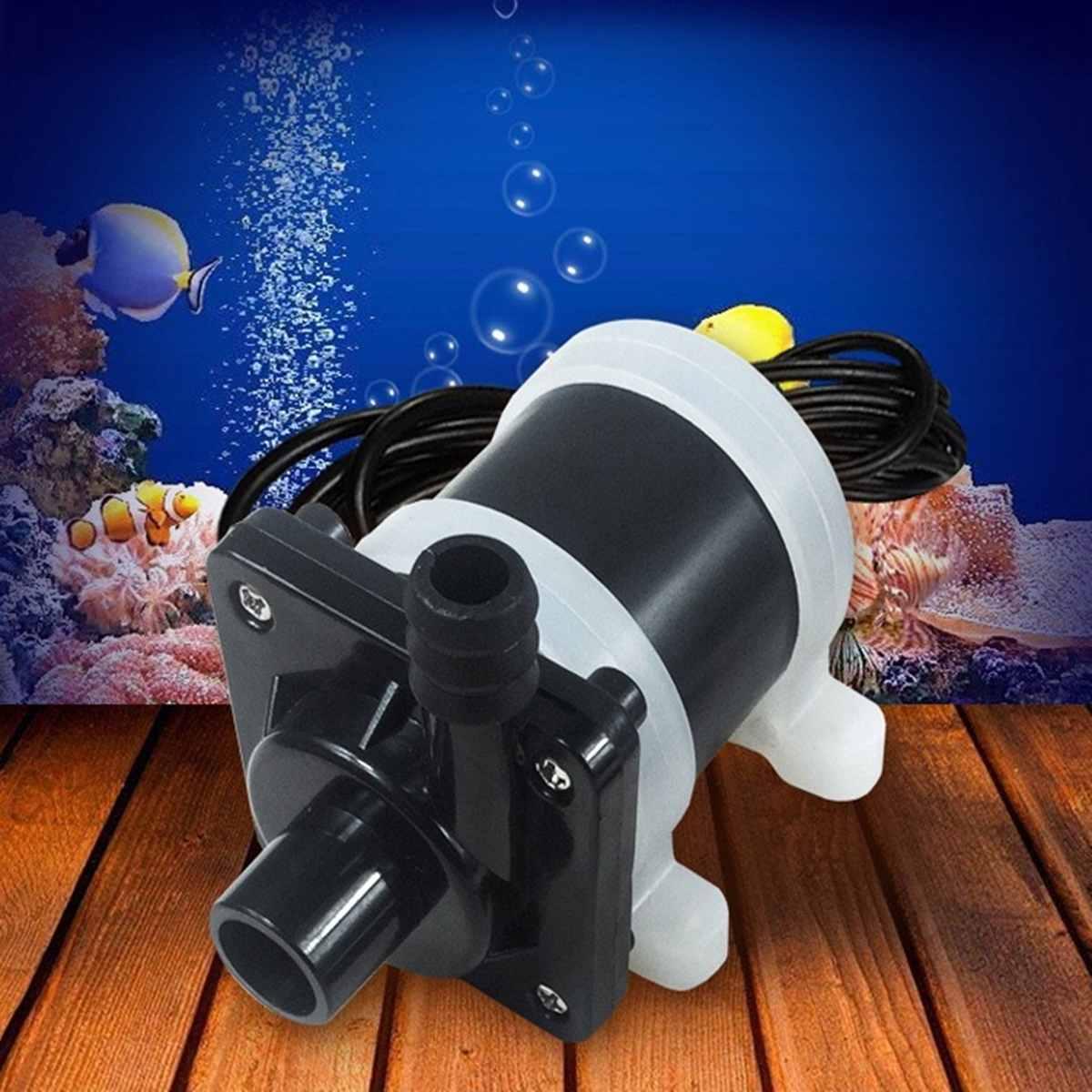 DC 12V 24V Solar Brushless Motor Submersible Pump Aquarium Air Oxygen Pump Pond Fish Tank Silent Water Filter Water Circulation