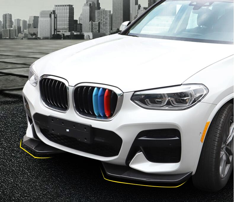 ABS <font><b>Carbon</b></font> Fiber Front Bumper Lip Front Lip Splitters Bumper Spoiler Wings Flaps Cover For <font><b>BMW</b></font> <font><b>X3</b></font> <font><b>G01</b></font> 2018 2019 2020 image