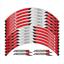 New 12 Pcs Motorcycle Wheels Stickers stripe moto Reflective Decorative protection Rim tire decals sticker For BMW F900R f900 r