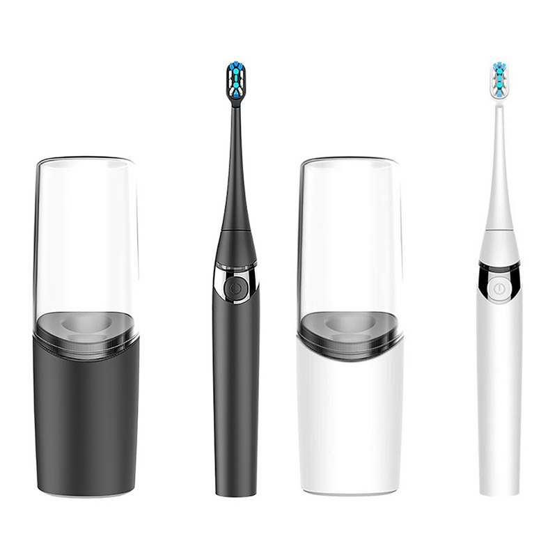 Aiwejay Convenient Travel Sonic Electric Toothbrush Wireless Charging IPX7 Waterproof Adult Cleaning Electric Toothbrush with Cu