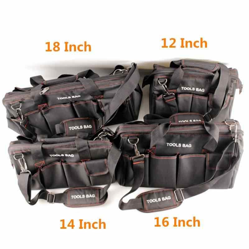 DANIU 12 14 16 18 inç elektrikçi alet çantası su geçirmez büyük kapasiteli çanta seyahat donanım erkekler Crossbody tamir ambalaj