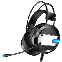 лучшая цена Wired Gaming Headset Deep Bass Game Earphone Computer Headphones With Microphone Led Light Headphones For Pc Laptop Computer