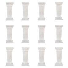 12 Stück Mini Säule Barock Stil Dekosäule Griechische Säulen Podest Geburtstag Babyparty Dekoration