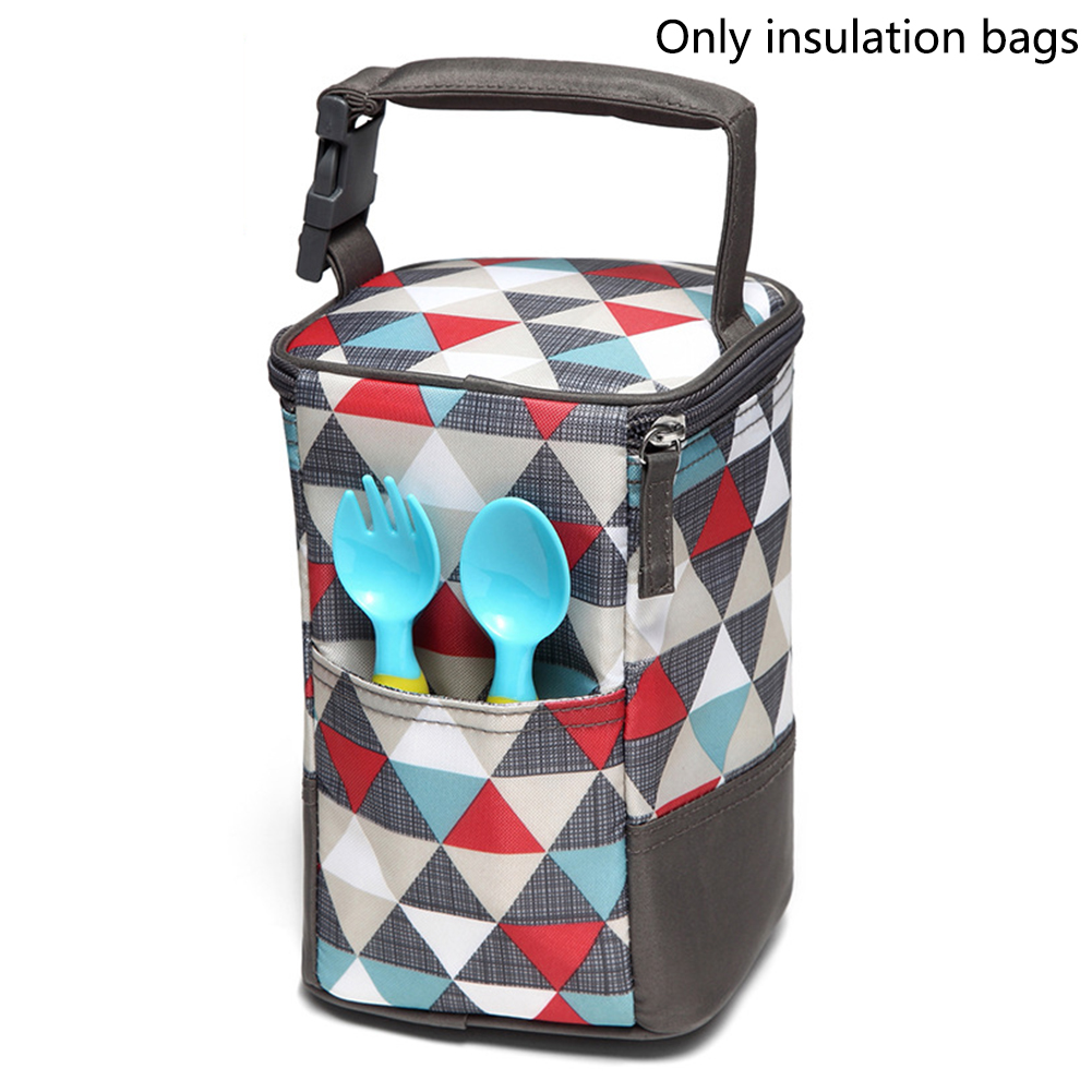 Holding Tote Detachable Cooler Storage Thermal Insulation Printed Breastmilk Preservation Portable Baby Bottle Bag Mummy Fashion image