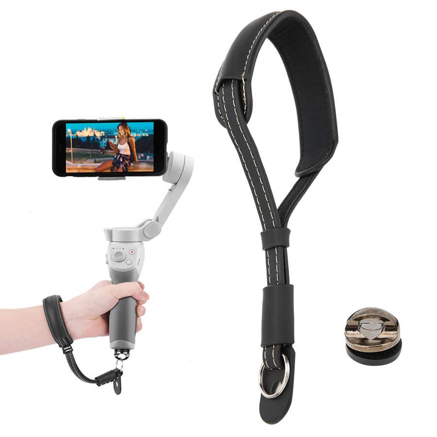 PU Cinturino Da Polso Cinghia Cordino con 1/4in Vite per DJI OM 4 per DJI osmo mobile Handheld Gimbal stabilizzatore