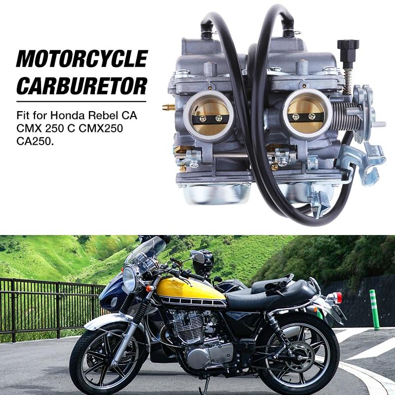Motorcycle Carburetor Dual Carbs Twin Carburetors For Honda Rebel CA CMX 250 C CMX250 CA250 2 Cylinder Engine Moto Accessories