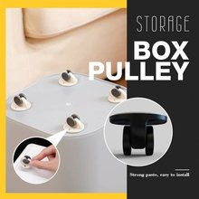 Boite de rangement poulie 4 pièces/ensemble roulettes pivotantes adhésives roue de meuble universelle roulette pour plateforme chariot chaise pâte Pul