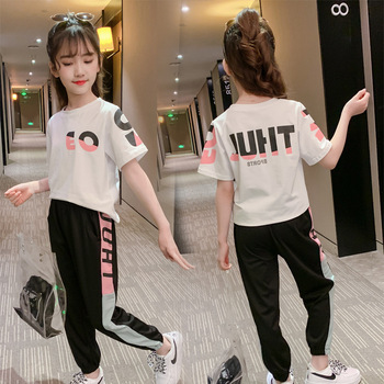 Children Clothing Set Girls Sets Kids Summer Autumn Girl Outfit Sports Suit Set 3-13Y Child Clothes Teen Girls ActiveTracksuit corduroy teen 2018 children clothing set cotton kids outfits autumn teenage girls clothes winter set shirts pants sports suits