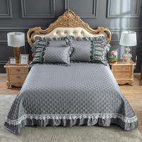 46 Bedspread with Pillow shams Overside 98\\\x106\\\ Bed Cover All Season Premium Cotton Bedding set Queen King size