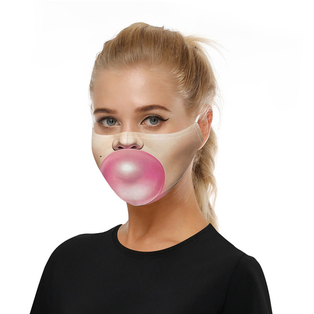 Fashion Print Mouth Mask Reusable Protective PM2.5 Filter Paper Cotton Face Mask Bacteria Proof Flu Mask Anti Dust Mouth-muffle 1