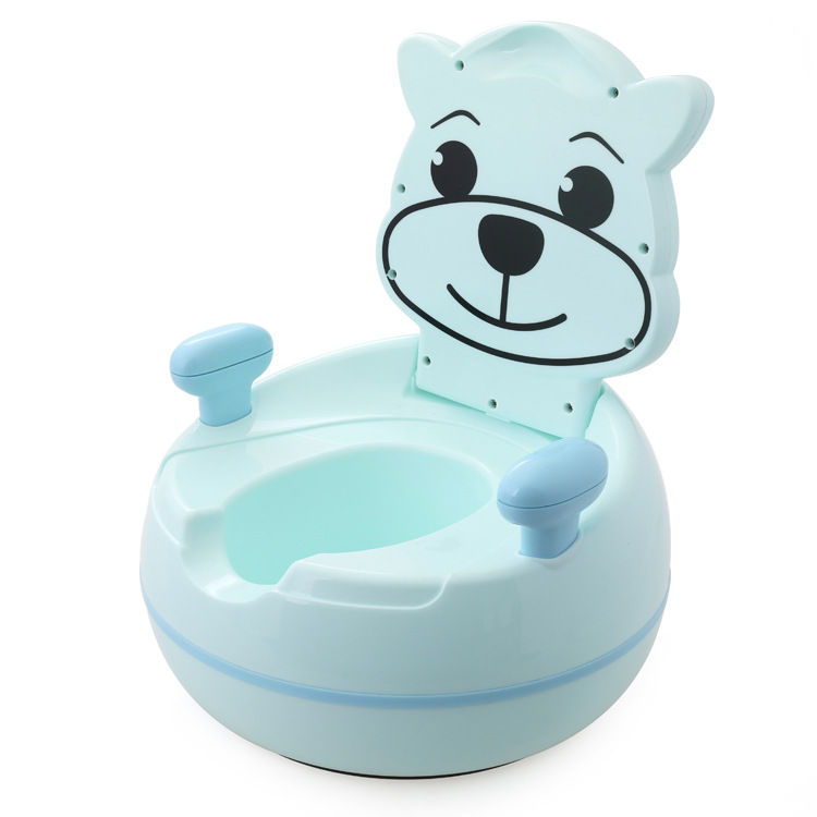 Toilet For Kids Cartoon Bear Children Toilet Cartoon Toilet Portable Infants Baby Chamber Pot Potty
