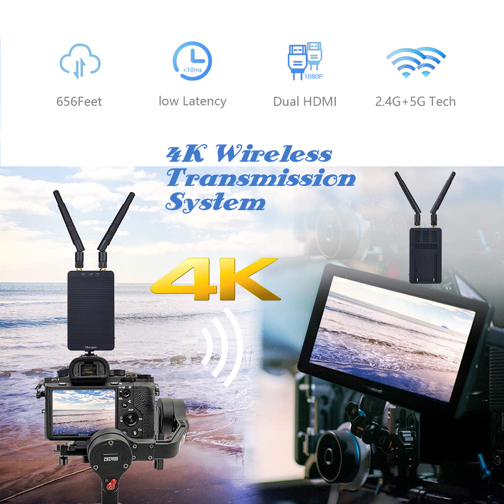 measy Tour T1 Mini Wireless Video Transmission 4K 5G HD Image Transmitter Receiver HDMI For Video Photography Youtube VS 300S