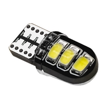 100Pcs T10 Silicone Shell 6SMD Led Car Bulb W5W 192 Silica Gel Auto Wedge Parking Light License Plate Lamp White Red Yellow Blue