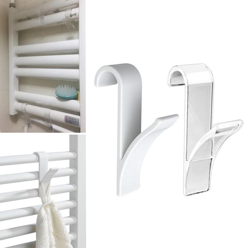 5Pcs High Quality Hanger For Heated Towel Rail Radiator Tubular Bath Hook Holder Bathroom Hangers Small Back Radiator Cap Hook