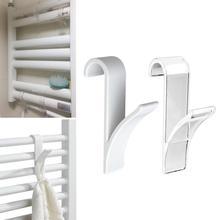 5 uds. De alta percha de calidad para radiador de riel de toalla calefactado soporte de gancho de baño Tubular colgadores de baño pequeña tapa con gancho de radiador trasero