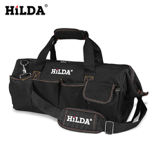 HILDA Tool Bags Waterproof Men canvas tool bag  Electrician Bag Hardware Large Capacity Bag Travel Bags Size 12 14 16 18 Inch as the extension kit 20 inch multifunctional large thick canvas shoulder bag hardware woodworking electrician kit
