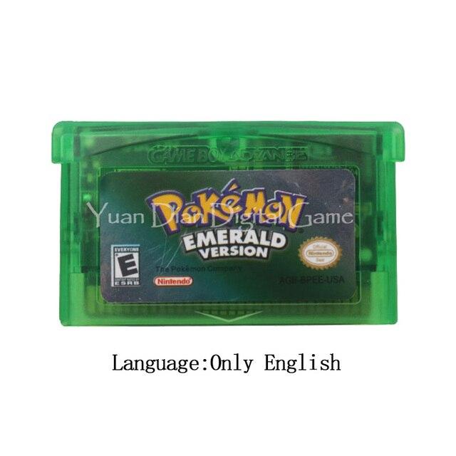Cartucho de videojuegos para Nintendo GBA, tarjeta de consola, serie Poke, Esmeralda, Inglés/italiano/alemán/francés/español