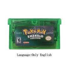 Per Nintendo GBA cartuccia Console per videogiochi serie Poke smeraldo inglese/italiano/tedesco/francese/spagnolo
