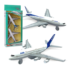 2pcs/Set Pull Back Power Air 777 Airways Aircraft Alloy Model Plane Toys for Children Metal Airlines Airplane Toys Boys Gift