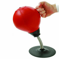Desktop Punch Punching Exercise Speed Ball Stress Buster Freestanding Boxing Bag Kit Red Red Black