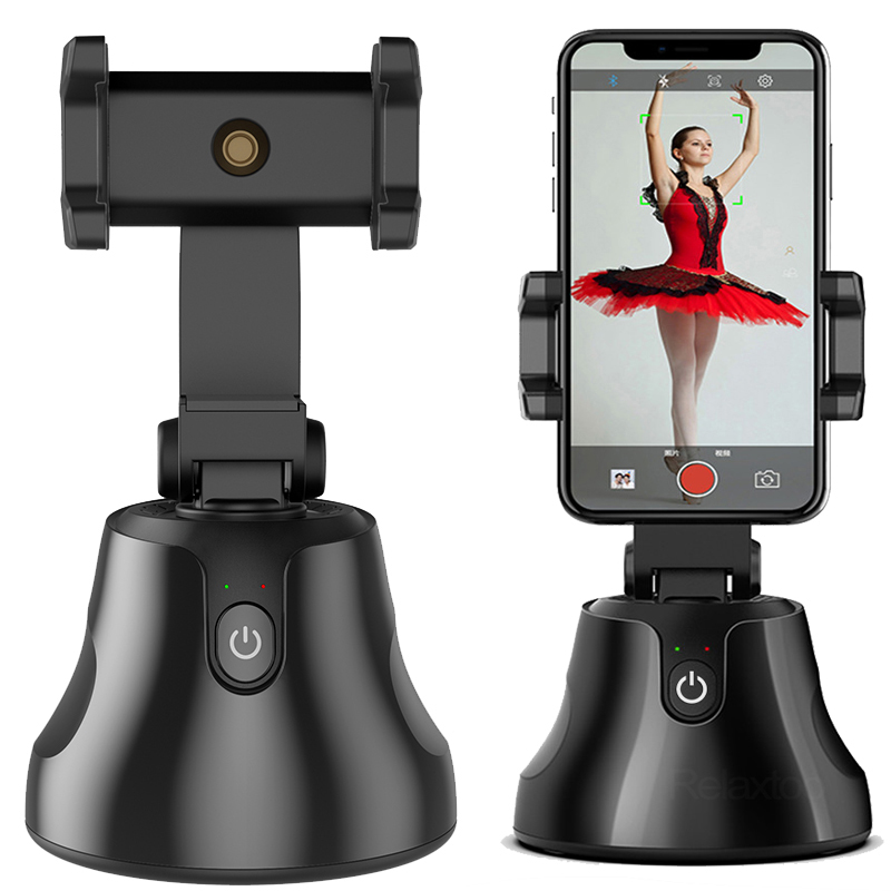 iPhone Video Recording TIK Tok Smart Tracking Phone Camera Tripod 【NO APP Required】 360/° Auto-Face Tracking Holder YouTube Cell Phone Stand for Live Broadcast