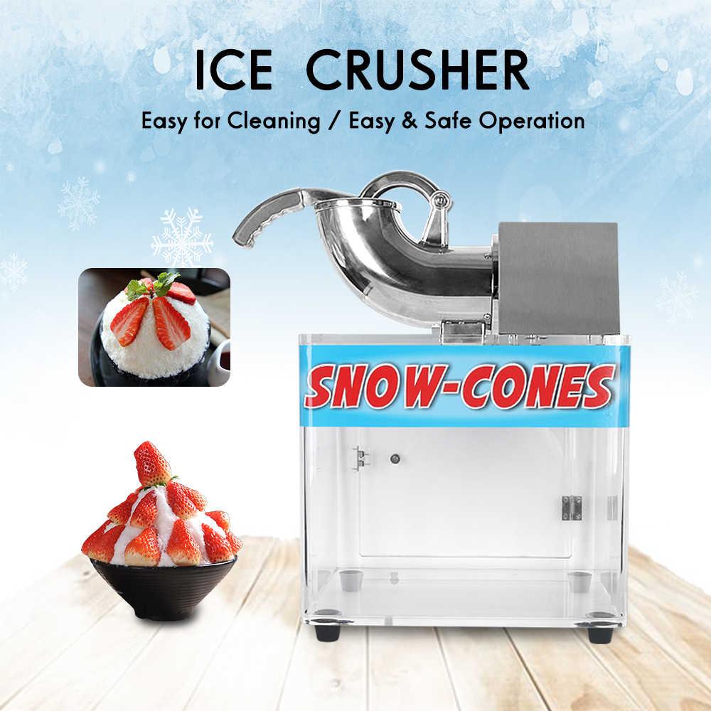 Afeitado De Coño máquina trituradora de hielo eléctrica itop 200w sbt130 máquina de afeitado  de cono de nieve máquina de hielo afeitado de hoja de acero inoxidable