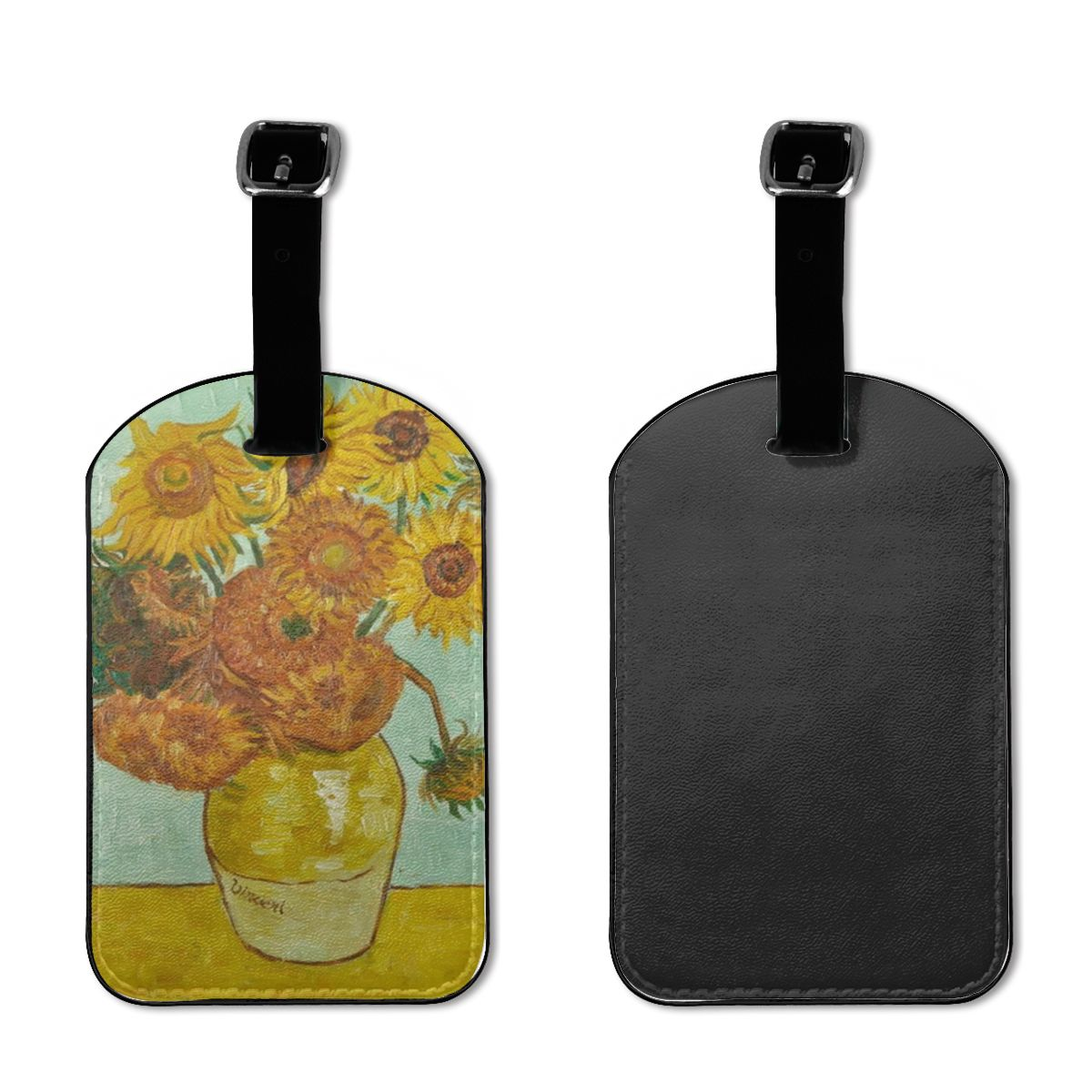 NOISYDESIGNS Customizde Vincent Van Gogh Luggage Tags Set Of 2 Travel Accessories Luggage Tags Travel Hanging Tags