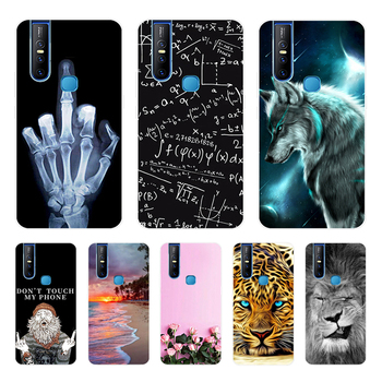 For Vivo V15 Pro Case Silicone Tiger Back Case For Vivo V15 Phone Cases Soft TPU Cover For Vivo V 15 vivov15 Covers v15pro Cute tanie i dobre opinie Aneks Skrzynki soft silicone case Przezroczysty Floral Odporna na brud Free shipping Drop shipping High quality AAA For Vivo V15 Pro