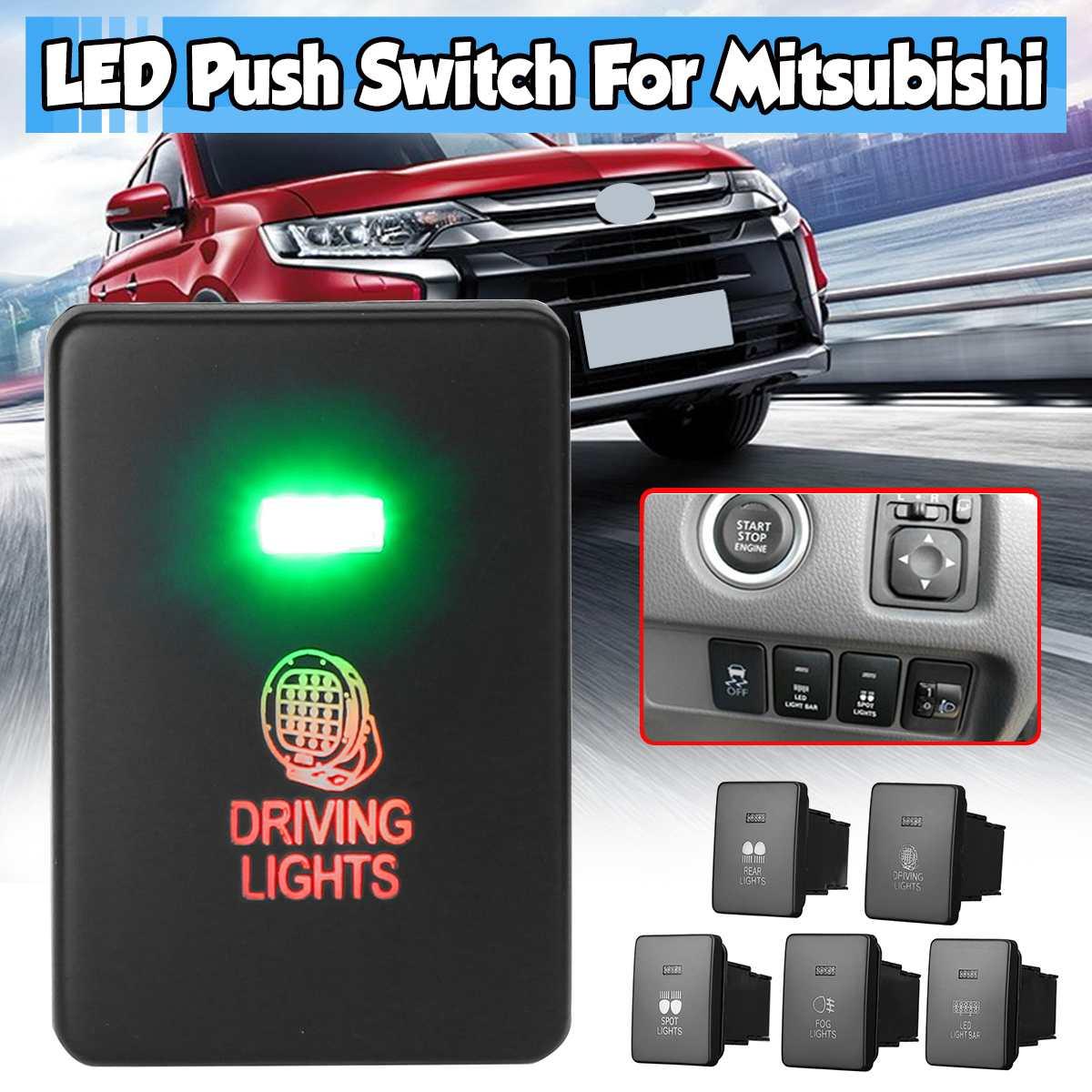 Автомобисветильник фара 12 В, кнопка, противотуманная фасветильник дальнего света, светодиодсветильник фара, переключатель для Mitsubishi Mirage LA ...