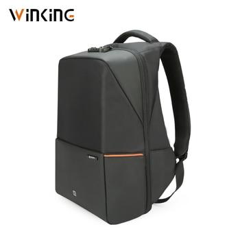 Winking Waterproof Men Backpack 180 Degree Open USB Charging Laptop Backpack 15.6 inch Anti-theft School Bags for Teenage Boys
