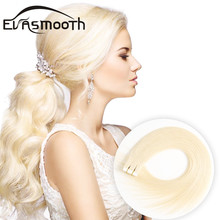 "EVASMOOTH Skin Weft Machine Remy Tape in Human Hair Extension 20pcs 40pcs 80pcs Adhesive Tape in Hair Extensions 12""/16""/20"""