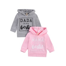 Tops Hooded Sweatershirt Baby-Girls Kids Spring Newborn Letter 6m-3years Pullover Pocket