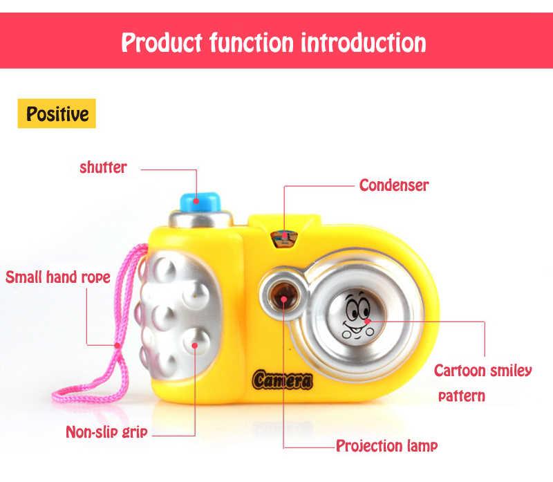 Chico Cámara chico juguete llavero educación temprana Mini flash sonido de obturador proyector 8 Animal de juguete para el regalo de los niños