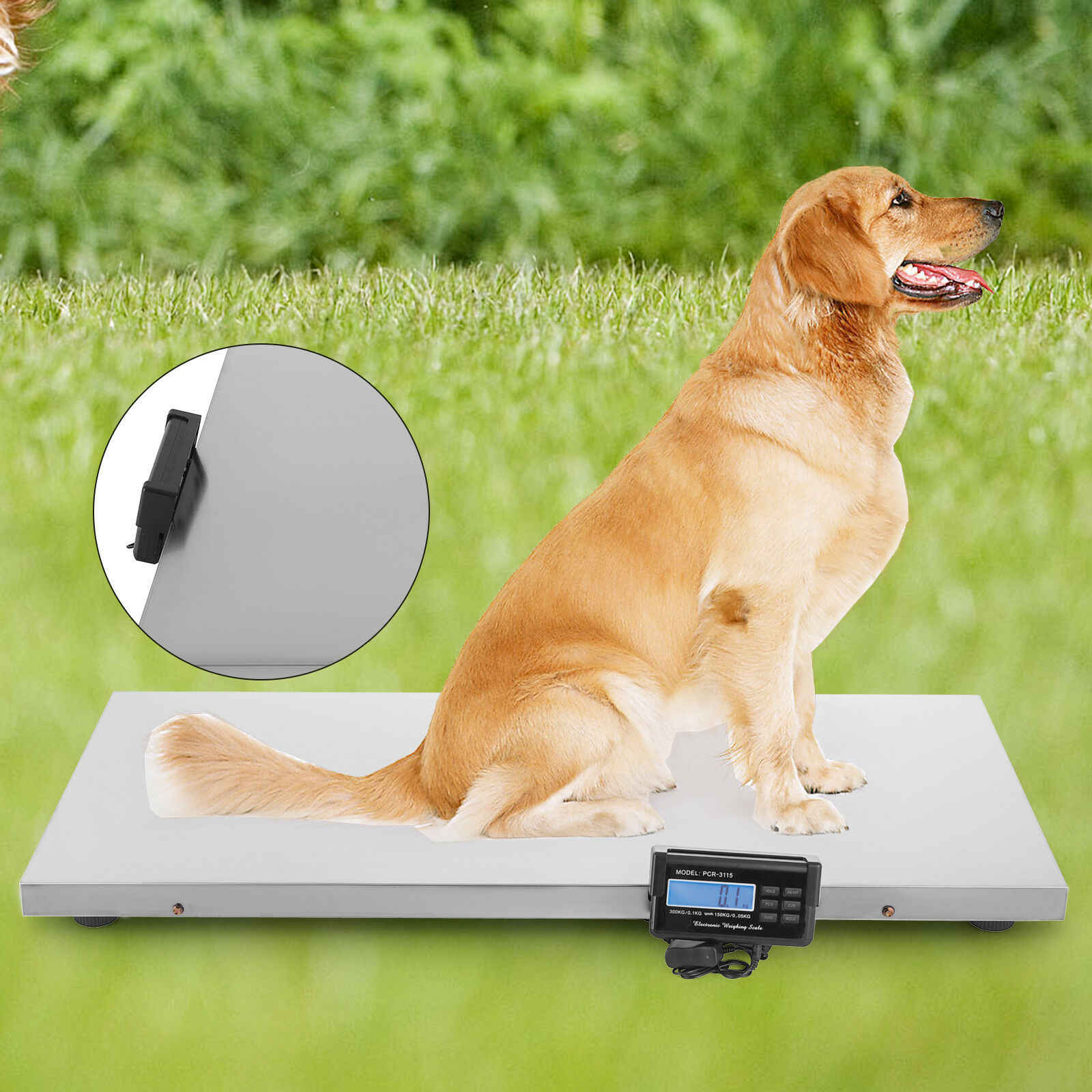660 Pounds Capacity Digital Vet Scale Weighing Scale for Pet Cat Dog Sheep Hog