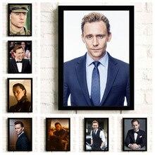 Super-herói tom hiddleston filme hd estrela arte da parede decoração para casa pintura da lona arte nordic decoração café bar quarto cartaz a571