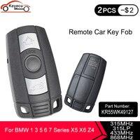 KEYECU 10PCS KYDZ 3 버튼 315LP/315/433/868MHz PCF7945 칩 CAS3 BMW 3 + 1 3 5 6 7 시리즈 X5 X6 Z4