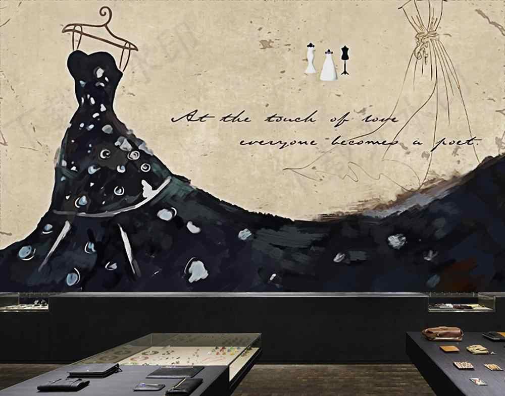 [自己粘着] 3D ファッションドレス WG409 壁壁紙壁画壁印刷デカール壁壁画ベリー