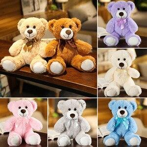 Image 3 - Juguete de alta calidad para niños, 1 unidad de 25/35cm, dibujo de osito de felpa, peluches, muñeco de oso, regalo de cumpleaños para niños