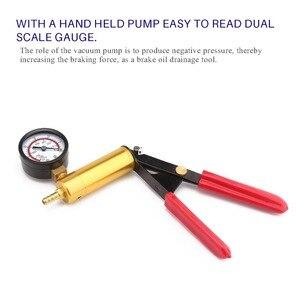 Image 5 - Universal hand held diy ferramentas sangrador fluido de freio pistola vácuo bomba tester kit bomba de alumínio corpo pressão vácuo calibre ht190
