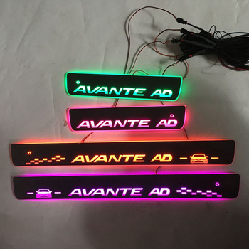 4pcs / For AVANTE AD Streaming color LED lamp Door Sill/Welcome Pedal / Dynamic Lighting Vehicle threshold for HYUNDAIAvante AD