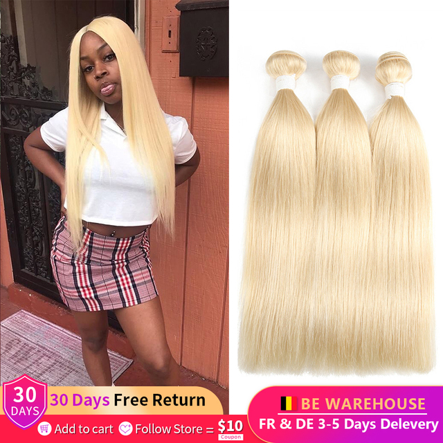 Blonde Gerade Peruanische Haar Bundles 1/3/4 Pcs Ombre Blonde 1B 613 Farbe Remy Menschenhaar Weben Extensions Für Frauen EUPHORIA