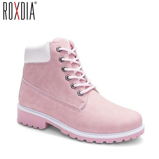 ROXDIA/женские ботильоны; Сезон осень зима; Новые модные женские зимние ботинки для девочек; Женская рабочая обувь; Большие размеры 36 41; RXW762