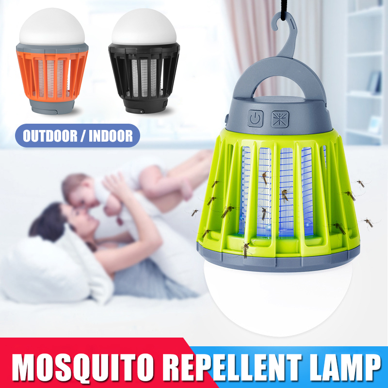 Newest 2-in-1 Mosquito Killer LED Lantern With Hook UV Mosquito Killer Lamp Camping Lantern Tent Light Portable IPX6 Waterproof